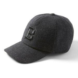 Banana Republic charcoal Herringbone baseball cap